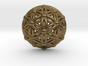 Flower Of Life Dome in Polished Bronze