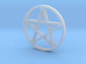 Pentagram (Pentacle) in Smooth Fine Detail Plastic
