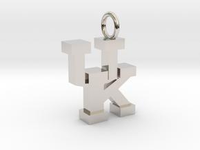 UK Pendant in Rhodium Plated Brass