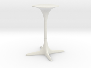 Burke Tulip Table Propeller Base in White Natural Versatile Plastic: 1:12
