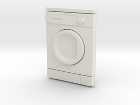 Washing Machine  02. 1:24 Scale in White Natural Versatile Plastic