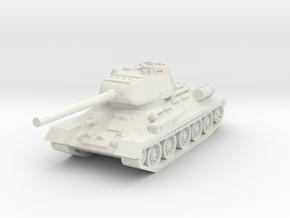 T34-85 USSR tank in White Natural Versatile Plastic