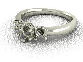 Classic Solitaire 9 NO STONES SUPPLIED in 14k White Gold