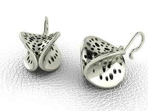 4 faced glitters NO STONES SUPPLIED in 14k White Gold