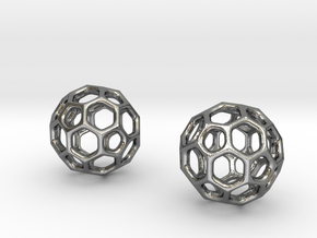 Simple Ball Summer Earrings/Pendant in Polished Silver