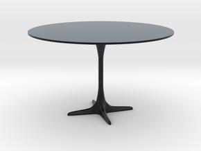 Burke Tulip Style Table w/ Propeller Base in Black Hi-Def Acrylate: 1:12