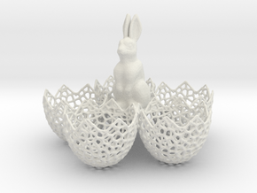 Easter Eggs Holder in White Strong & Flexible