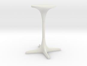 Burke Tulip Table Propeller Base in White Natural Versatile Plastic: 1:24