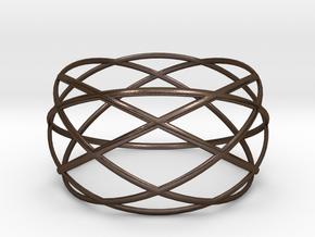 Wristband - revo 50 in Polished Bronze Steel
