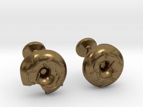 Doughnut Cufflinks in Natural Bronze