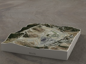 Laguna Seca, California, USA, 1:10000 in Full Color Sandstone