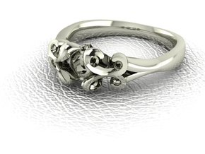 Classic Solitaire 11 NO STONES SUPPLIED in 14k White Gold