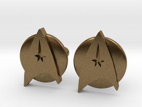 Starfleet Cufflinks in Natural Bronze