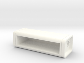 Bevelled Retro Fuel Cell - 15 Gallon in White Strong & Flexible Polished