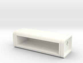 Bevelled Retro Fuel Cell - 15 Gallon in White Processed Versatile Plastic