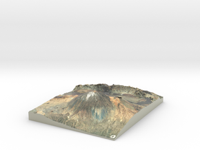 Pico del Teide Map, 1:45,000 in Glossy Full Color Sandstone
