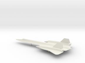 Lockheed SR-71 Blackbird in White Natural Versatile Plastic: 1:200