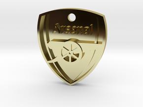 Arsenal FC Shield KeyChain in 18k Gold