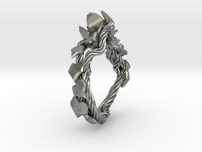 Garden Ring in Natural Silver: 6 / 51.5