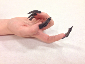 Castle Nails (Size 2) in Black Strong & Flexible