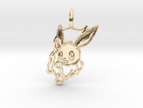 Eevee Pendant in 14k Gold Plated Brass