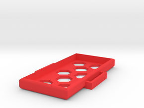 Extended Battery Protection Box in Red Processed Versatile Plastic