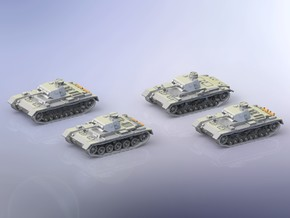 German Panzer III Variants A-D 1/285 in Smooth Fine Detail Plastic