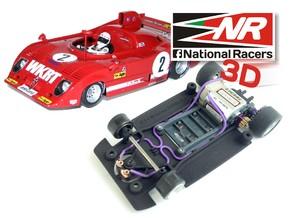 3D Chassis - SRC Alfa Romeu 33T12 - (SW/Inline*)  in Black Strong & Flexible