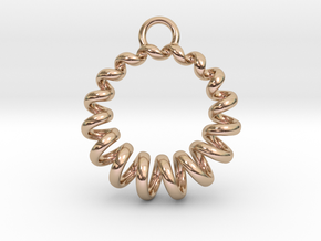 Spiral Earring in 14k Rose Gold Plated Brass