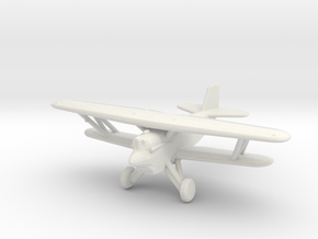 Curtiss F6C 'Hawk' (with wheels) in White Strong & Flexible: 1:200