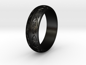Ray F. - Ring in Matte Black Steel: 3.5 / 45.25