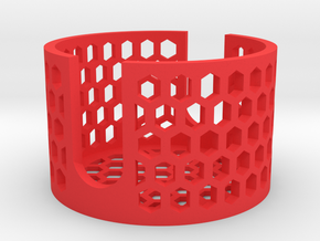 "Concrete Coaster v2.0 M-Holder Mini Set 3.5""  in Red Processed Versatile Plastic"