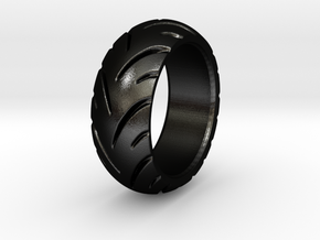 Ray Zing - Ring in Matte Black Steel: 5.25 / 49.625