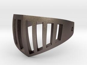 visor ring in Polished Bronzed Silver Steel: 6.25 / 52.125