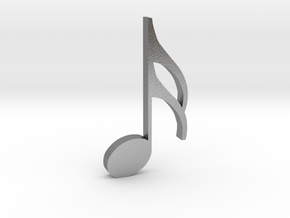 Music Pendant - Semiquaver (16th Note) in Natural Silver
