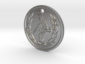 Resident evil 7 biohazard coin necklace (50cent si in Natural Silver