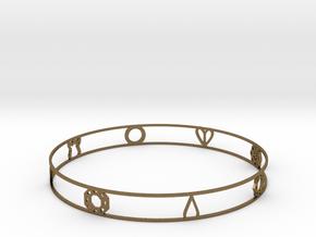 Pokemon Kanto Badge Bracelet in Natural Bronze
