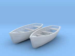 Wooden boat. HO Scale (1/87) in Smooth Fine Detail Plastic
