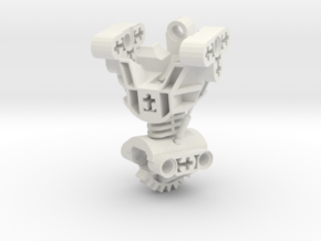 Articulated Bionicle Toa Mata Torso in White Natural Versatile Plastic
