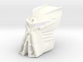 Kanohi Ignika V2  in White Strong & Flexible Polished