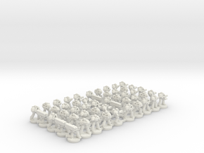 8mm Super Soldier Warriors version 2 in White Natural Versatile Plastic