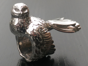 Owl Ring Size 51 (16,3) in Polished Silver