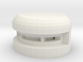 Single Pill Box in White Natural Versatile Plastic