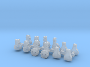 12 EU Plugs for a dollhouse in Frosted Extreme Detail