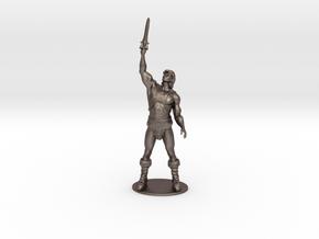 He-Man Miniature in Polished Bronzed Silver Steel: 1:60.96