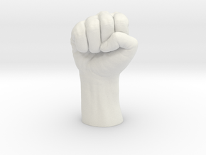 Fist in White Natural Versatile Plastic