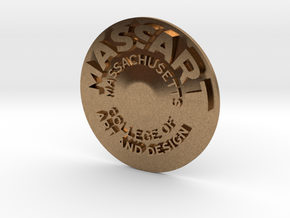 MassArt coin in Natural Brass
