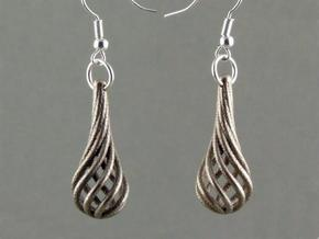 Eardrops (from $15.00) in Polished Bronzed Silver Steel