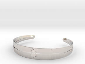 Stitch Bracelet in Rhodium Plated Brass: Small