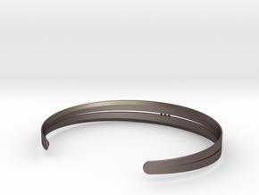 Stitch Bracelet in Polished Bronzed Silver Steel: Large